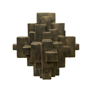 """ARNO"" TABLE TOP SCULPTURE IN BLACK GOLD FINISH - Flair Home Collection"