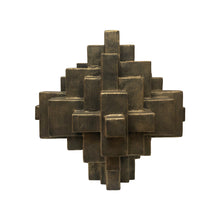 "Load image into Gallery viewer, ""ARNO"" TABLE TOP SCULPTURE IN BLACK GOLD FINISH - Flair Home Collection"