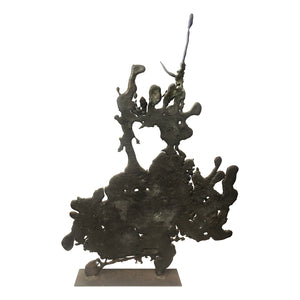 MONUMENTAL ABSTRACT SPILL CAST SCULPTURE - Flair Home Collection