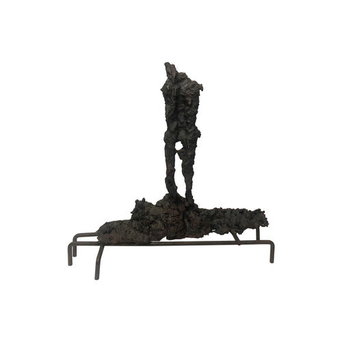 ABSTRACT SPILL CAST SCULPTURE ON SIX PRONG BASE - Flair Home Collection