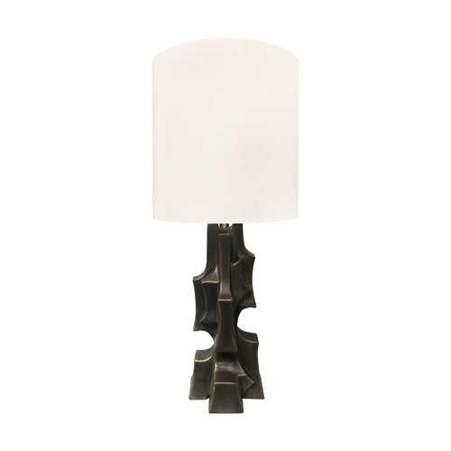 ORGANIC FORM TABLE LAMP IN BLACK GOLD FINISH - Flair Home Collection