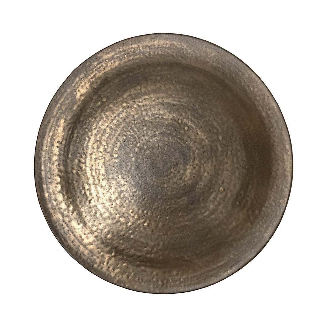 CERAMIC WALL SCULPTURE WITH DAPPLED BRONZE GLAZE #3 - Flair Home Collection
