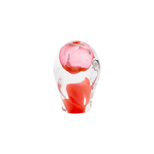 SMALL GLASS LAVA OBJECT IN FIRE RED - Flair Home Collection