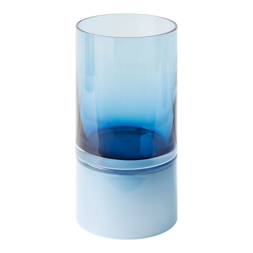 HAND BLOWN GLASS PAIR VESSEL IN BLUE - Flair Home Collection