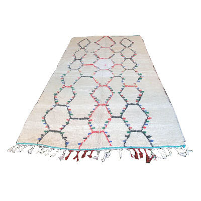 BENI OURIAN COLORED DIAMOND PATTERN MOROCCAN RUG - Flair Home Collection