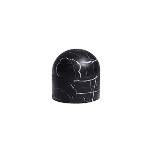 SMALL BEEHIVE BOX IN NERO MARBLE - Flair Home Collection