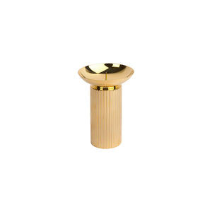 SMALL FLAIR CANDLE HOLDER IN BRASS - Flair Home Collection