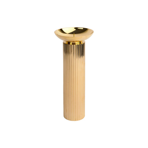 LARGE FLAIR CANDLE HOLDER IN BRASS - Flair Home Collection