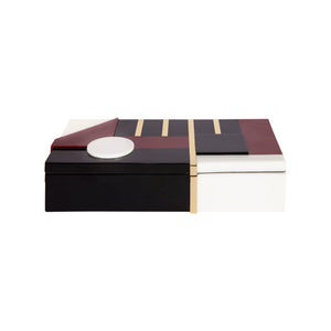 JACQUES BOX IN RESIN AND BRASS - Flair Home Collection