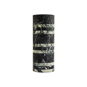 LARGE RIVE VASE IN NERO AND FIORE MARBLE - Flair Home Collection
