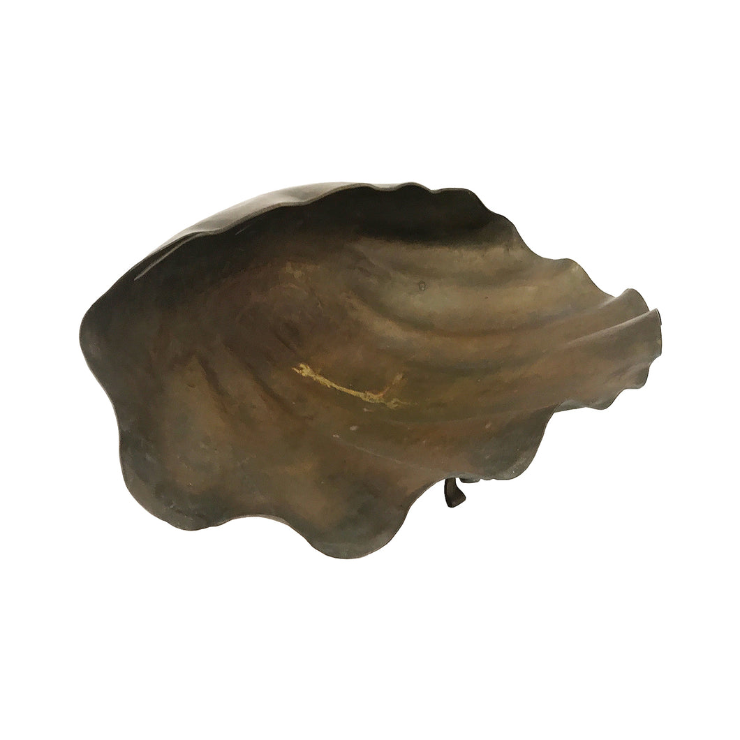 LARGE ITALIAN BRASS CLAM SHELL BOWL - Flair Home Collection