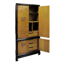 Load image into Gallery viewer, VINTAGE CHINOISERIE STYLE BURLWOOD CABINET - Flair Home Collection