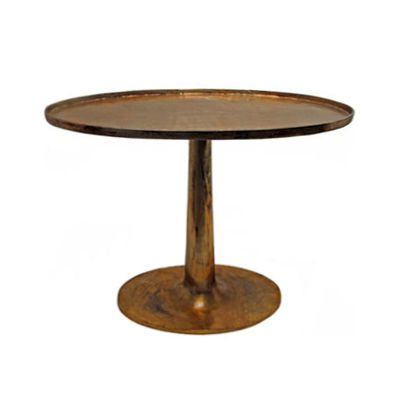 TALL GILT OVAL SIDE TABLE - Flair Home Collection
