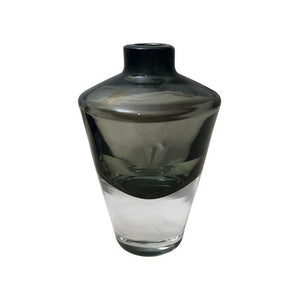 TALL HANDBLOWN GHEATA VASE IN SMOKE - Flair Home Collection