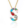Rainbow Letter Necklace