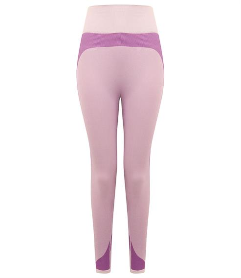 SEAMLESS PANELLED LEGGINGS - light pink/purple