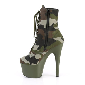 PLEASER - Camo Ankle Boot