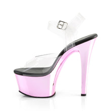 Load image into Gallery viewer, PLEASER - Clear & Pink Ankle Strap Sandal