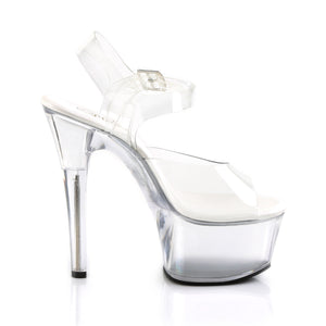 PLEASER - Clear Ankle Strap Sandal
