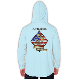 Men's Red White & Booze Hoodie Blue