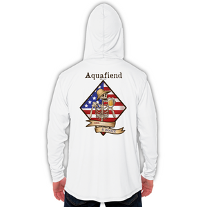 Men's Red White & Booze Hoodie White