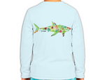 Kids Tropical Shark Long Sleeve