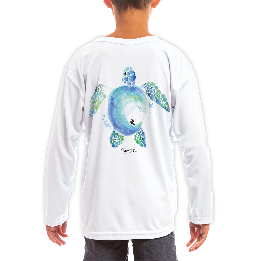 Kids Surfin' Turtle Long Sleeve