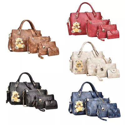 4Pc Womens Handbag Set