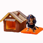 Cute Pet Cat Dog House Novelty Soft Dog Puppy Kennel Bed Cat Home Lovely Removable Dog Sleeping Bag Cama Perro Dog Bed House