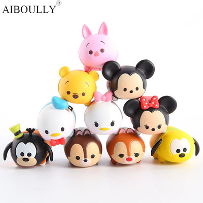 10Pcs/Lot Tsum Tsum Donald Mickey Winnie Duck Toys Cute Elf Doll Bathing Toys For Girl