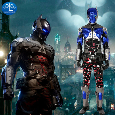 Batman Costume Arkham Knight Costume Halloween Cosplay Costume For Men Custom Made High Quality