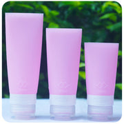 38/60/80ml Portable Silicone Mini Travel Bottles Colorful Empty Clear Tube Cosmetic Cream Lotion Containers Refillable Bottles