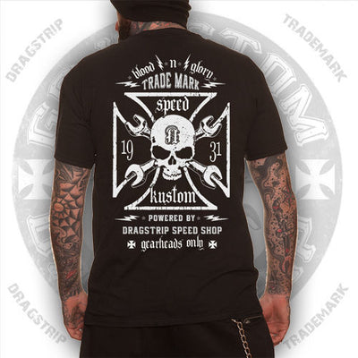 Clothing Biker T` Shirt Iron Cross T`shirt Skull Tee Hot Rod T`Shirt