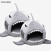 2019 Novelty Soft Dog Cat Bed Shark Mouse Shape Washable Dog house Pet Sleeping Bed With Removable Cushion free shipping