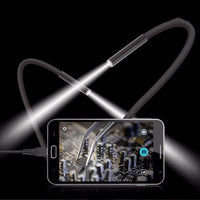 1M 5.5m/7mm Lens USB Endoscope Camera Waterproof Flexible Wire Snake Tube Inspection Borescope For OTG Compatible Android Phones