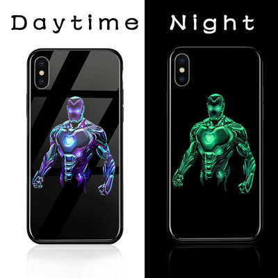 ciciber Marvel Glass Phone Cases For Iphone 6 6S 7 8 Plus X XR XS MAX Hard Phone Back Cover Spiderman Iron Man Fundas Capa