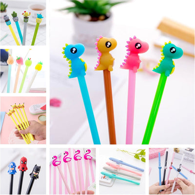 0.5mm Kawaii Creative Dinosaur Gel Pen cat Signature Pen Escolar Papelaria For Office School Writing Supplies Stationery Gift