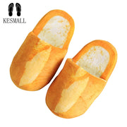 KESMALL Women Winter 3D Bread Lovers Adult Slippers Indoor Floor Home Shoes Bedroom Warm Soft Slippers Unisex Funny Gift WS294