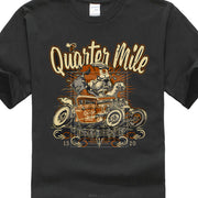 Hot Selling 100 % Cotton Summer The New Fashion For Short Sleeve Mutts Nuts Quarter Mile Bulldog Hot Rod Rat Rod T Shirt