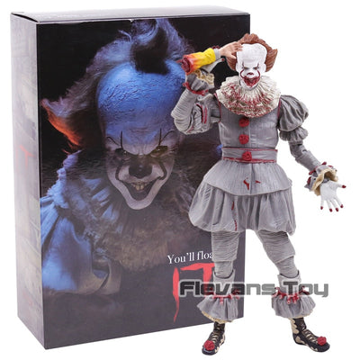 2017 Stephen King's It The Clown Pennywise PVC Action Figure Horror Collection Model Movable Figurine Toy