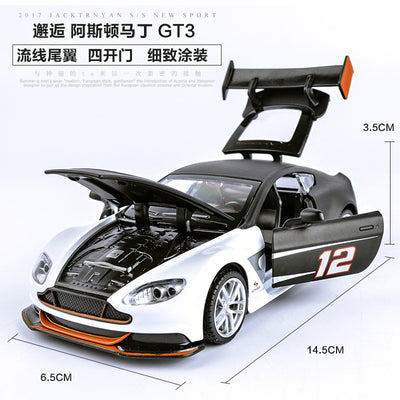 1/32 Die-Cast Racing Car 14.5Cm Sport Car Toys For Boys W/Light & Music 4 Openable Doors Pull Back Power