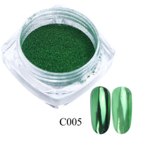 0.5g Nail Mirror Glitter Powder Metallic Color Nail Art UV Gel Polishing Chrome Flakes Pigment Dust Decorations Manicure TRC/ASX