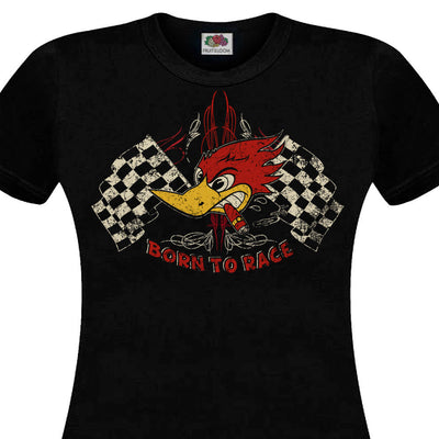 2019 Fashion Summer Style T-Shirt men BORN TO RACE Hot Rod Muscle Car Cafe Racer Chopper Custom V8 Retro Tee shirt