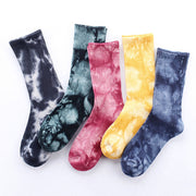 2019 New Arrival Men socks Tie-dye breathable Cotton socks Casual Colorful Novelty Pattern happy Funny Socks
