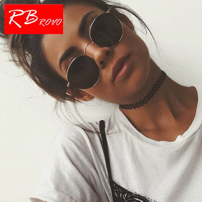 RBROVO 2019 Vintage Oval Classic Sunglasses Women/Men  Eyeglasses Street Beat Shopping Mirror Oculos De Sol Gafas UV400