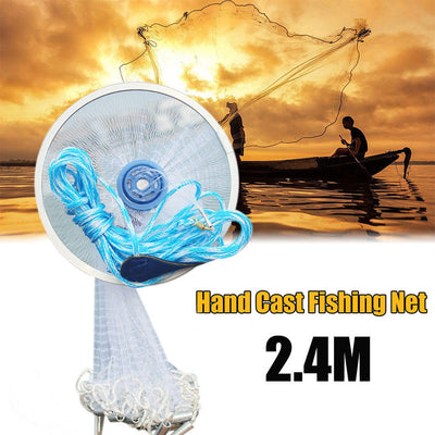 High Quality 100%  Magic Fishing Net Finefish Aluminum Ring American Catch Fish Network 30
