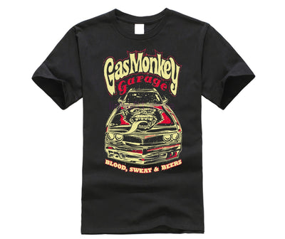 gas shirt Oficial monkey Garage Essentials Para Hombre Camaro T-Shirt Hot Rod GMG