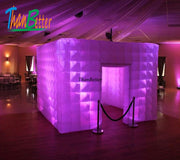 ThanBetter Custom Wedding Party Inflatable Photo Booth Inflatable Cube Carbin Inflatable house With Multi-color LED Light