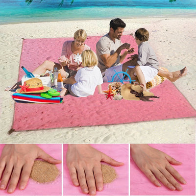 magic beach mat sand free mat beach folding beach mat sandless outdoor waterproof portable beach blanket camping picnic mat