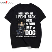 john wick 3 t shirt top tshirt Movie men 2019 Be Kind To Animal Or I'll Kill You t-shirt hip hop tee shirt streetwear male/women